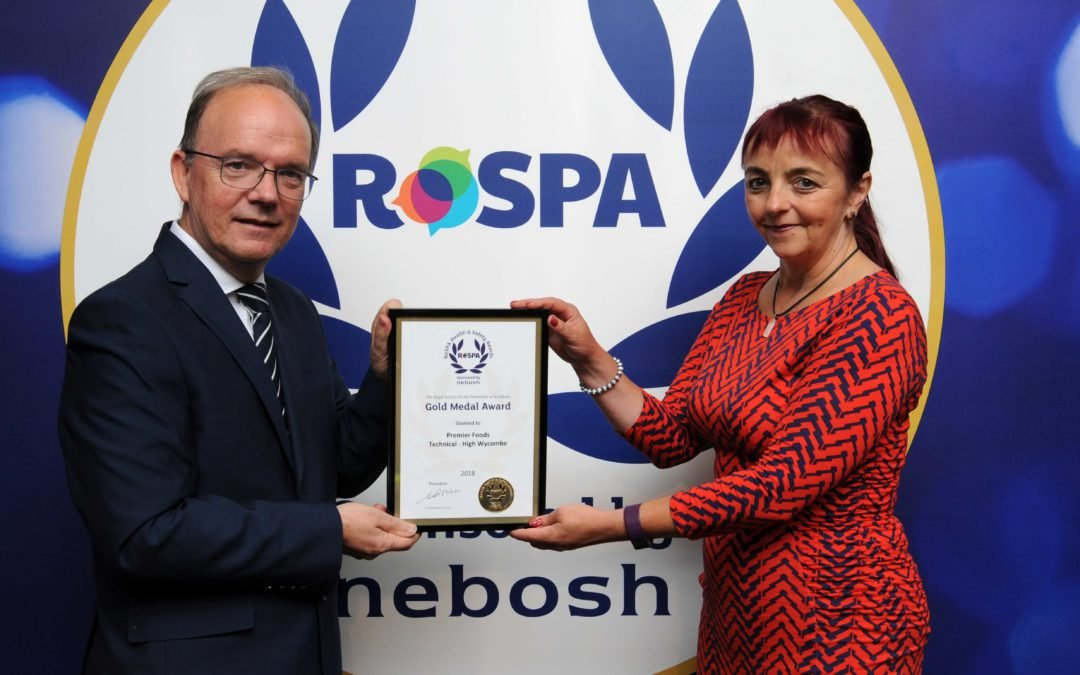 Premier Analytical Services – High Wycombehanded RoSPA Gold Medal
