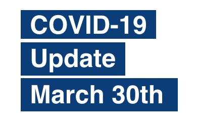 PAS Update on Coronavirus (COVID-19) March 30th