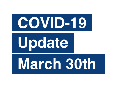 PAS Update on Coronavirus (COVID-19) March 30th