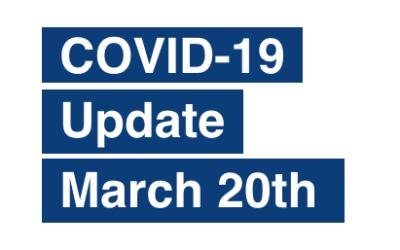 PAS Update on Coronavirus (COVID-19) March 20th